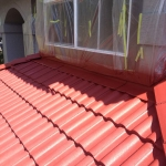 Roof1 painting, Coquitlam, during