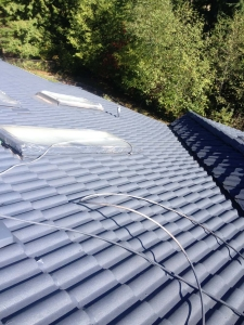 Roof2 painting, Coquitlam, during
