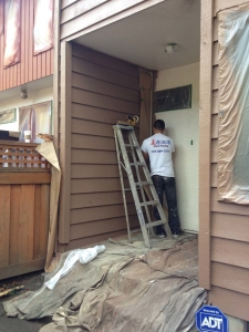 Townhouse painting, Burnaby, during1