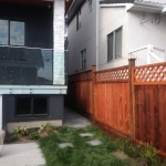 fence staining, Vancouver, after
